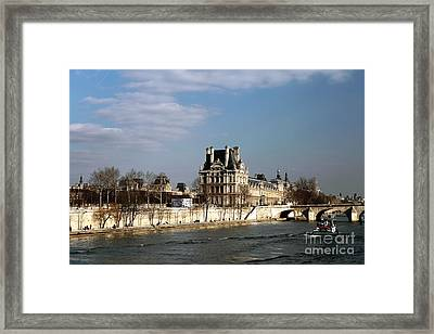 River View In Paris Framed Print by John Rizzuto