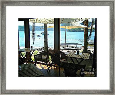 Framed Print featuring the photograph River View by Leanne Seymour