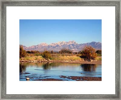 River View Mesilla Framed Print by Kurt Van Wagner