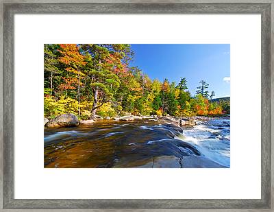 River View N.h. Framed Print by Michael Hubley