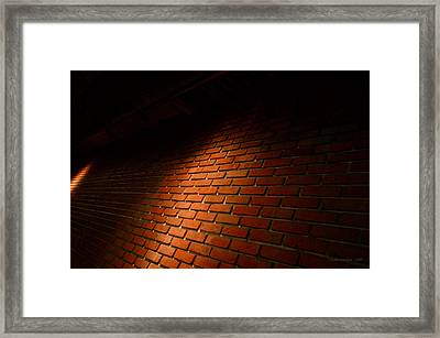 River Walk Brick Wall Framed Print by Shawn Marlow