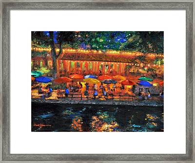 Da190 River Walk By Daniel Adams Framed Print