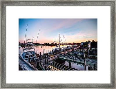 River Walk In Georgetown Framed Print