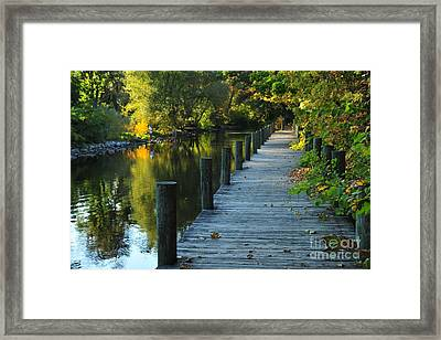 River Walk In Traverse City Michigan Framed Print