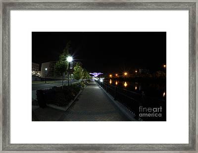 River Walk On The Fox Framed Print by David Bearden