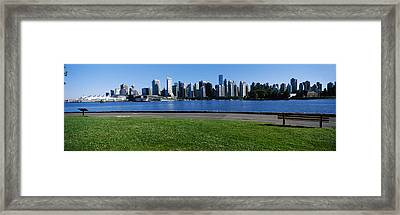 River Walk With Skylines Framed Print by Panoramic Images