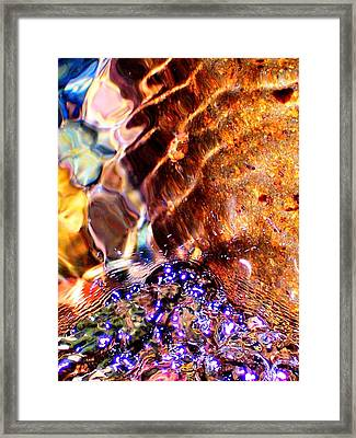River Water Abstract Framed Print