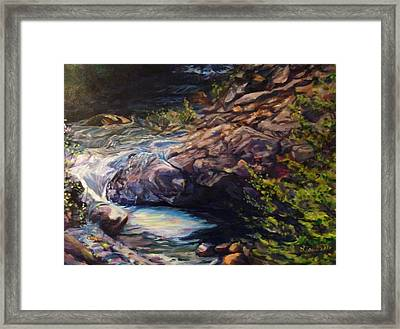 Napa River Rapids Framed Print by Art By Lisabelle