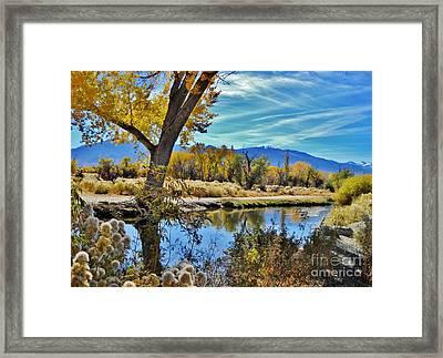 River Works Framed Print by Marilyn Diaz
