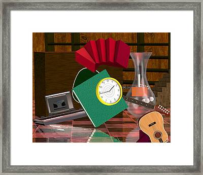 Rivera's Clock Framed Print by Rick Bishop