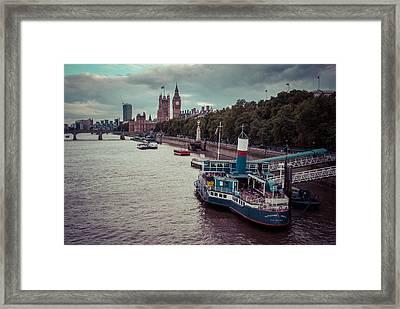 Riverbank Framed Print by Daniel Kocian