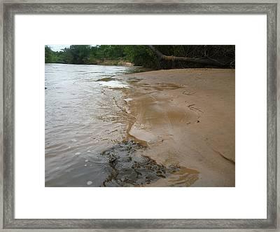 Framed Print featuring the photograph Riverbeach by Beto Machado