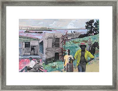 Riverboat Arrival Framed Print by Rollin Kocsis