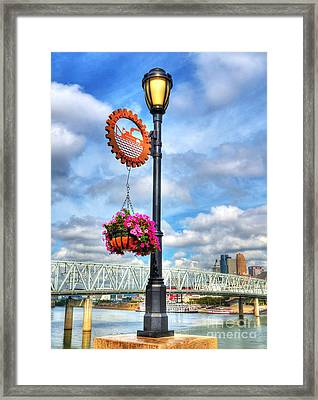Riverboat Lamp Framed Print by Mel Steinhauer