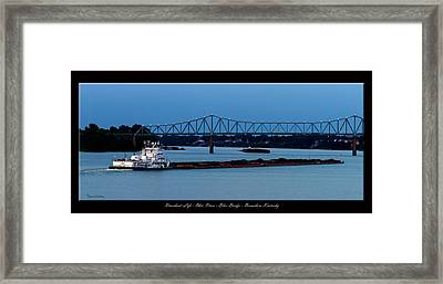 Riverboat Life Framed Print