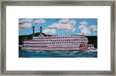 Riverboat Queen Framed Print by Mitchell McClenney