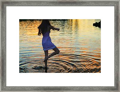 Riverdance Framed Print by Laura Fasulo