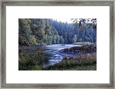 Riverflow At Dusk Framed Print by Belinda Greb