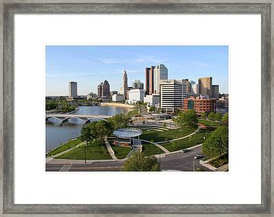 Riverfront Columbus Framed Print