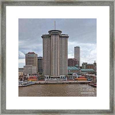 Riverfront Of New Orleans Framed Print by Kay Pickens