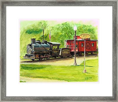 Riverfront Park Framed Print by C Keith Jones
