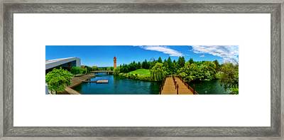 Riverfront Park Clean Pano Framed Print by Dan Quam