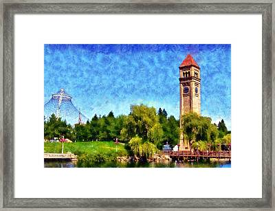 Riverfront Park Framed Print