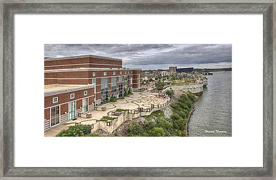 Riverpark Center And Smothers Park Owensboro Ky Framed Print by Wendell Thompson