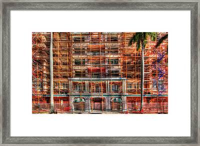 Riverpark Renovations Framed Print by Tom Lass