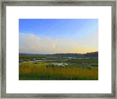 River's Dreamscape Framed Print by Dina  Stillwell