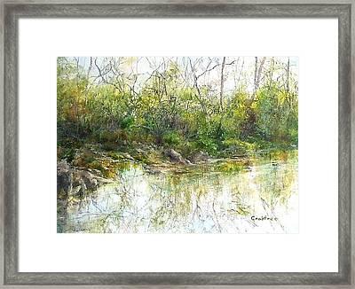 River's Edge Framed Print by Elizabeth Crabtree
