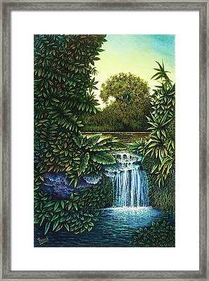 Framed Print featuring the painting River's Edge by Michael Frank
