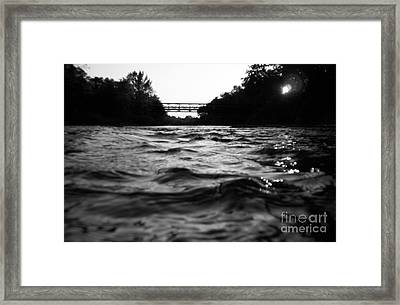 Framed Print featuring the photograph Rivers Edge by Michael Krek