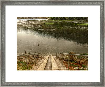 Rivers Edge Framed Print by Missy Richards
