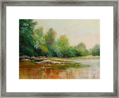 River's Edge Framed Print by Virginia Dauth
