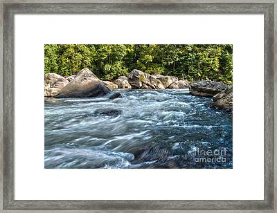 Rivers End Rapid On The Lower Yough Framed Print