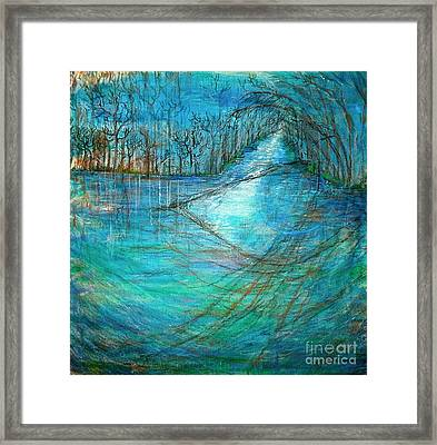 Framed Print featuring the mixed media River's Eye by Delona Seserman