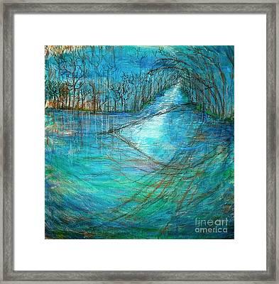 River's Eye Framed Print by Delona Seserman