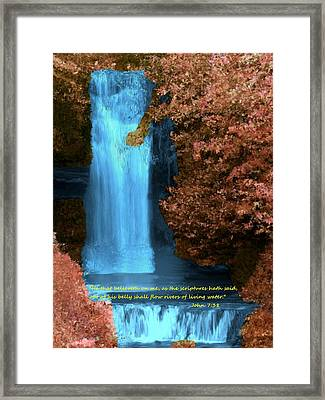 Rivers Of Living Water Framed Print by Bruce Nutting