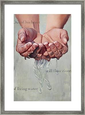 Rivers Of Living Water  Framed Print by Hannah  Harris