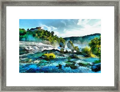 Riverscape Framed Print by Ayse Deniz