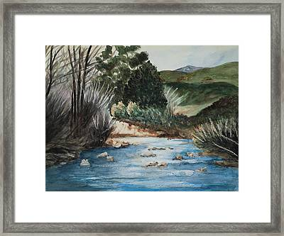 Riverscape Framed Print