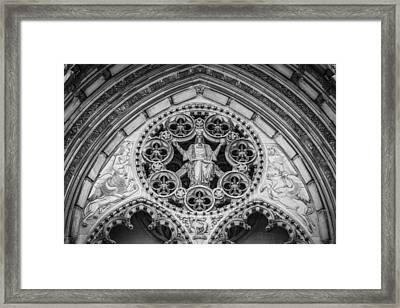 Riverside Church Details Nyc Framed Print by Erin Cadigan