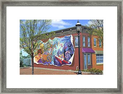 Riverside Gardens Park In Red Bank Nj Framed Print
