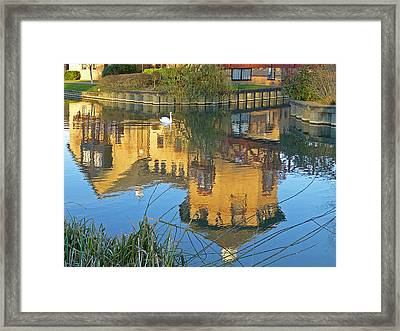 Riverside Homes Reflections Framed Print by Gill Billington