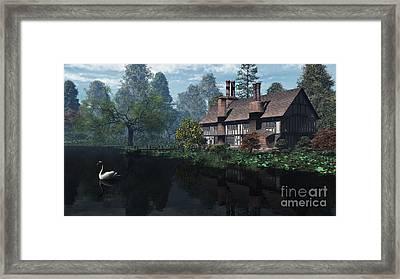 Riverside Manor House Framed Print