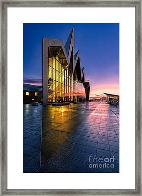 Riverside Museum Glasgow Sunrising Framed Print by John Farnan