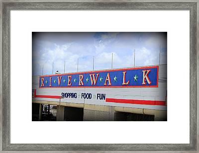 Riverwalk Framed Print by Beth Vincent