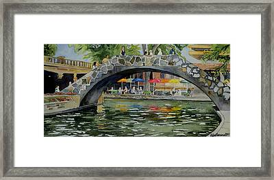 Riverwalk Bridge Framed Print