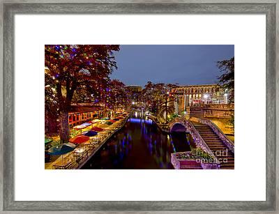 Riverwalk Christmas Framed Print
